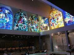 Window in the synagogue at the Hadassah University Medical Center in Jerusalem, by renowned stained glass artist Marc Chagall. Description from pinterest.com. I searched for this on bing.com/images