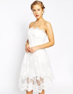 $63, True Decadence Allover Lace Full Skater Dress. Sold by Asos. Click for more info: https://lookastic.com/women/shop_items/232845/redirect