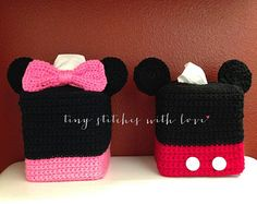 Minnie Mouse&Mickey Mouse Tissue Box Cover Set