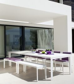 Tribù | Dining Table | Chairs | Bench | White | Outdoor | Design