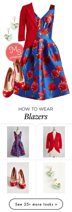 """Ring Out the Bold Dress"" by modcloth on Polyvore featuring But Another Innocent Tale, women's clothing, women, female, woman, misses and juniors"