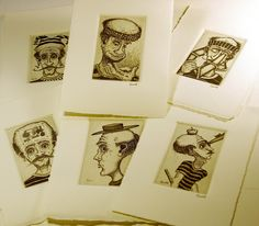 one of my all time favorite artomat artists, John Gall. He makes these tiny, detailed intaglio prints and it makes me so envious. I want to do an intaglio series for artomat too.