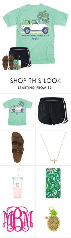 """that's how you talk to a girl"" by classychan05 ❤ liked on Polyvore featuring NIKE, Birkenstock, Lord & Taylor, Kate Spade, Vineyard Vines, Lilly Pulitzer and Tory Burch"