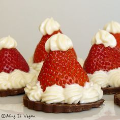 Strawberry Santa Hats Dessert {recipe}