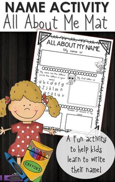 Download this FREE homeschool printable All About me worksheet! Great practice for preschoolers to learn the letters in thier name and more!