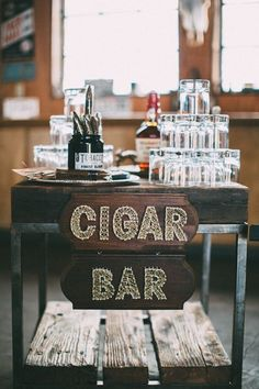 6 Fun Ways to Surprise Your Groom on Your Wedding Day - cigar bar