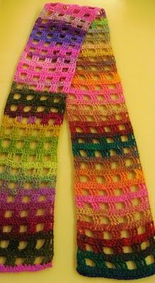 one row of dc's, then one row of alternating 3 trc's, 3 chains, beginning and ending with the 3 trc's. #crochet