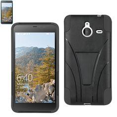 Reiko Silicon Case+Protector Cover Nokia Lumia 640 Xl- Microsoft Lumia 640 XL New Type Kickstand Black