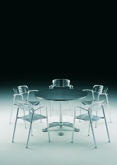 París 5 table and Toledo chairs. Designed by Jorge Pensi State Art, Barcelona, Chairs, Table, Furniture, Collection, Design, Home Decor, Homemade Home Decor