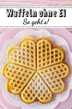 Waffeln ohne Ei – so einfach geht's Waffles without eggs – it's so easy DELICIOUS Pancake Healthy, Best Pancake Recipe, Easy Cake Recipes, Baby Food Recipes, Cookie Recipes, Waffel Vegan, Low Fat Cookies, Homemade Baby Foods, Vegan Sweets