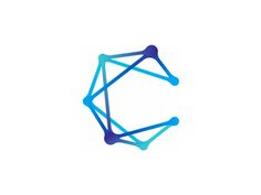 C for constellation  logo design symbol by alex tass