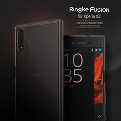 RINGKE Etui Fusion Sony Xperia XZ + Folia - Smoke Black Szary | SONY \ Xperia XZ