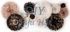 Diy juju hat, juju hat, diy, feather decor, decor, white, tutorial