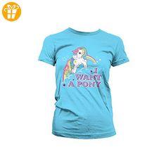 My Little Pony I Want A Pony Girl-Shirt blau XXL (*Partner-Link)