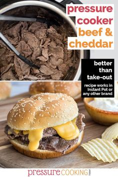 Sliced Beef Recipes, Sliced Roast Beef, Corned Beef Recipes, Beef Recipe Instant Pot, Instant Pot Dinner Recipes, Arbys Roast Beef Recipe, Arbys Beef And Cheddar, Best Pressure Cooker Recipes, Slow Cooker