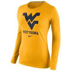 Nike Women's Logo Long Sleeve Tee #bookexchangewv #wvu #mountaineers