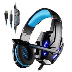 KOTION EACH G9000 3.5mm Game Headphone Gaming Headset With Microphone Dazzle LED Light Music For PS4 Laptop Tablet Mobile Phones