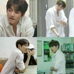 836 vind-ik-leuks, 26 reacties - Jeon Jungkook ❤ (@mydarlingkookie) op Instagram: 'Jeon Jungkook in WHITE POLO SHIRT : A CONCEPT He is just wearing PLAIN WHITE POLO SHIRT but daamn…'