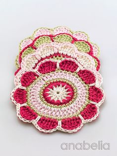 Spring Flowers coasters by Anabelia ༺✿ƬⱤღ  http://www.pinterest.com/teretegui/✿༻