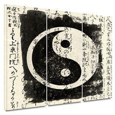 Yin Yang Tao Art 3 pc Set Graphic Art Contemporary Spiritual Canvas Home Decor #Canvas #Contemporary