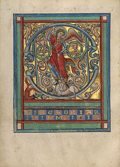 Initial Q: Saint Michael and the Dragon (Getty Museum)