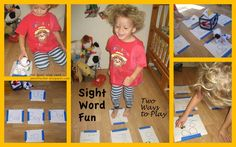 Sight Word Jumping Game - Engaging gross motor skills with early literacy activities can be a helpful tool for active kids.