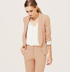 Fluid Blazer | Loft - in Pink or Grey - $118 - Also in Tall and Petite sizes
