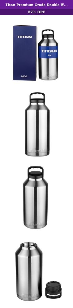 Titan Premium Grade Double Walled Vacuum Insulated Stainless Steel Bottle - Keeps COLD and HOT - Compare to Yeti and RTIC (64 oz). TITAN UP! The Titan is the industry standard of stainless steel drinkware. Made with quality craftsmanship of premium kitchen grade double walled vacuum sealed 18/8 stainless steel, the Titan is designed for maximum efficiency of ice retention, allowing beverages to remain cold and hot longer than other bottles. The Titan leaves absolutely no condensation so…