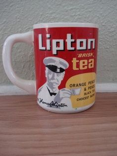 Vintage 1960s Lipton Tea Coffee Mug