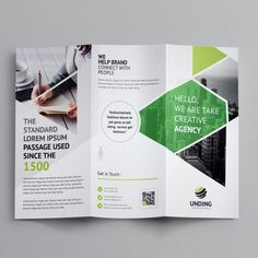 This elegant and well organized tri-fold business brochure template is in PSD format. The business brochure 3 Fold Brochure, Brochure Size, Luxury Brochure, Brochure Cover, Brochure Layout, Brochure Template, Product Brochure, Brochure Ideas, Graphic Design Brochure