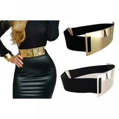 Cheap colored belts, Buy Quality belt ladies directly from China belts for women gold Suppliers: Hot Designer Belts for Woman Gold Silver Brand Belt Classy Elastic ceinture femme 5 color belt ladies Apparel Accessory Fashion Belts, Gold Fashion, Womens Fashion, Curvy Fashion, Fashion Trends, Wide Belts For Women, Designer Belts, Designer Clothing, Gold Belts