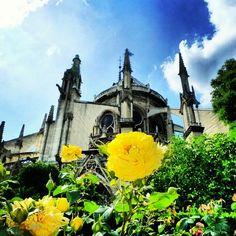 #cathédrale Notre-Dame de #Paris, #rose, #ciel, #architecture, juin 2010 Ciel, All Pictures, Barcelona Cathedral, Places To Travel, Dame, Paris, Architecture, Building, Instagram Posts
