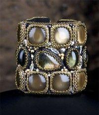 Free PDF tutorial - Rock Star Cuff from Sherry Serafini's Sensational Bead Embroidery
