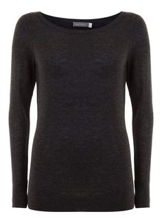 Charcoal Cashmere Mix Knit