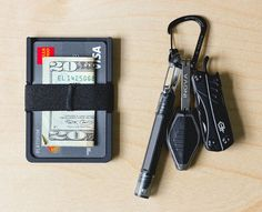 Here's what you get: Radix Wallet: this thing will seriously change your life. Made from high grade polycarbonate parts, it securely holds 2-6 cards, cash and anything else you can think of with a stu