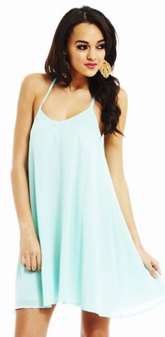 Flash Deal: Use Code MINT17 And Get $10 Off Your Order When it Includes This Mint Chiffon Swing Dress! shopmodmint.com