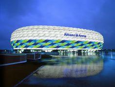 Herzog & de Meuron etfe - Google 搜索 Fc Bayern Munich, Cheap Flights And Hotels, Soccer Stadium, Facade Lighting, Booking Sites, Flight And Hotel, European Football, Football Fans, Champions League