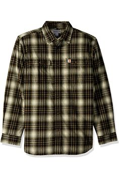 Carhartt Men's Weathered Canvas Shirt Jacket Snap Front, Frontier Brown, XX-Large at Amazon Men's Clothing store: Work Utility Outerwear Red Flannel Mens, Plaid, Canvas Shirts, Carhartt, Shirt Jacket, Casual Button Down Shirts, Men Casual, Amazon, Store