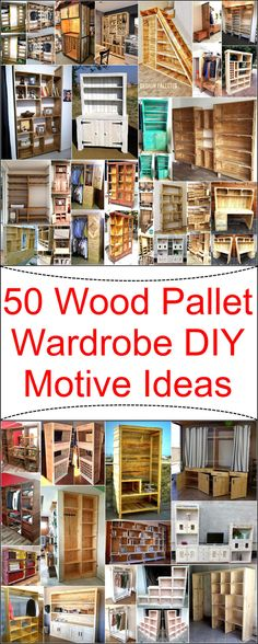 Now become a carpenter and craft these wonderful wood pallet projects on your own. These DIY motive wardrobe plans are simple and handicrafts to construct for the renovation of your home as well as to fulfill your storage needs in an economical way. The amazing thing in useless wood pallets is that they provide us full freedom to modify them according to our own desires.