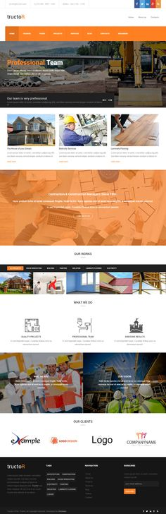 Tructor is Premium Responsive Retina #ConstructionCompany #template. Bootstrap 3 Framework. #ParallaxScrolling. Contact Form. Test free demo at: http://www.responsivemiracle.com/cms/tructor-premium-responsive-architecture-building-agency-html5-template/