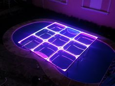 MOD NC-200PESP. Modules specially designed to cover pools, but can be used anytime. Fully transparent, with support frames and sills in aluminum, 12 mm tempered glass, LED perimeter lighting, automatic programs, without control. intelligent LED lighting 27 CH DMX. #led dance floor #lighted floor #smart led #party led #dancefloor light #led floor #led events #pistas iluminadas #pista de baile led #pistas luminosas #ness pistas #ness technology Led Dance, Light Led, In This Moment, Flooring, Glass, Design, Swiming Pool, Dance Floors, Drinkware