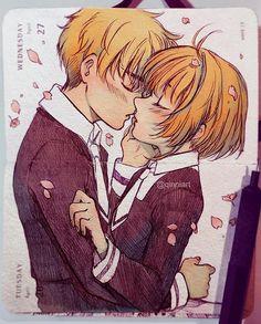 Art by qinnart on ig Cardcaptor Sakura Clear Card, Sakura Kinomoto, Syaoran, Anime Couples Drawings, Cute Anime Couples, Manga Anime, Anime Art, Qinni, Yuri