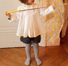 Tenu d'automne Lib&Lune - Tunique Grainde Couture et short Papillon & Mandarine