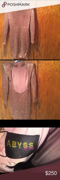 Abyss by Abby rose gold sequin dress Lightly worn one time for a few hours; excellent condition abyss by abby Dresses