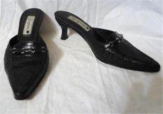 Brighton Dark Brown Leather Pamela Mules Shoes Sz 6M http://www.ebay.com/itm/370954487928?ssPageName=STRK:MESELX:IT&_trksid=p3984.m1555.l2649