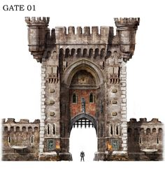 ArtStation - Fortress Gate, Jong-min Ahn