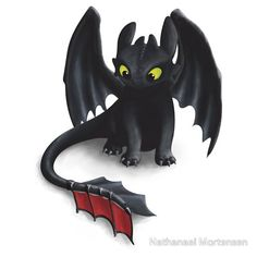 Toothless, Night Fury Inspired Dragon.