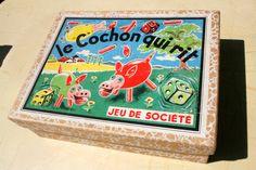 Le cochon qui rit - Jeu de société - Années 60  Trouvé Chez http://lapuce-au-grenier.blogspot.fr/