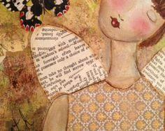 Imprimir impresión Angel mixta pintura por JaneLazenbyartist