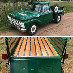 This 1964 Ford F-100 was originally a US Fish and Wildlife Service truck. Bert West rebuilt the engine and refurbished the body then painted it the original forest green.